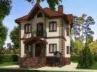 Проект двухэтажного дома с подвалом и гаражом